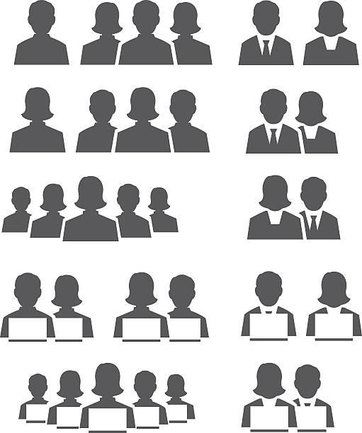 ilustrações, clipart, desenhos animados e ícones de conjunto de ícones de usuário - ceo