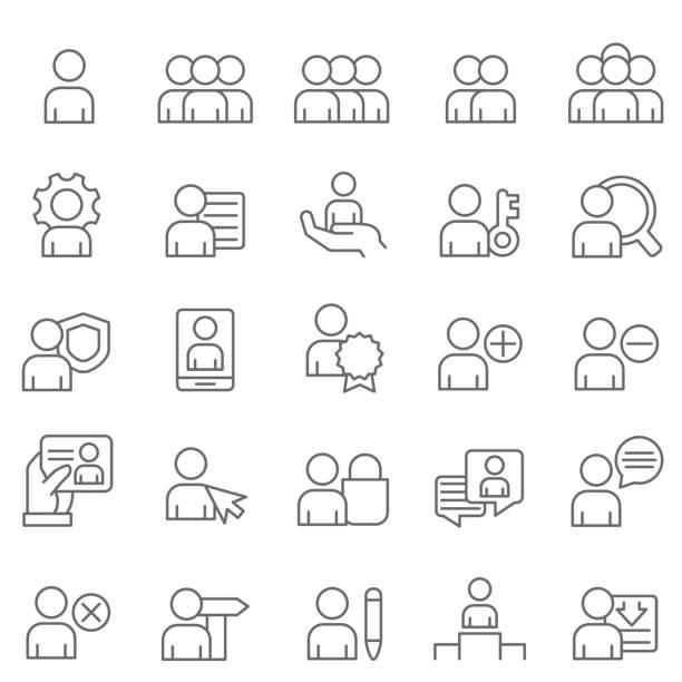user icons - lodge member stock illustrations
