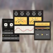 user interface audio template, with analog system devices.