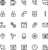 User Interface Colored Line Vector Icons 3
