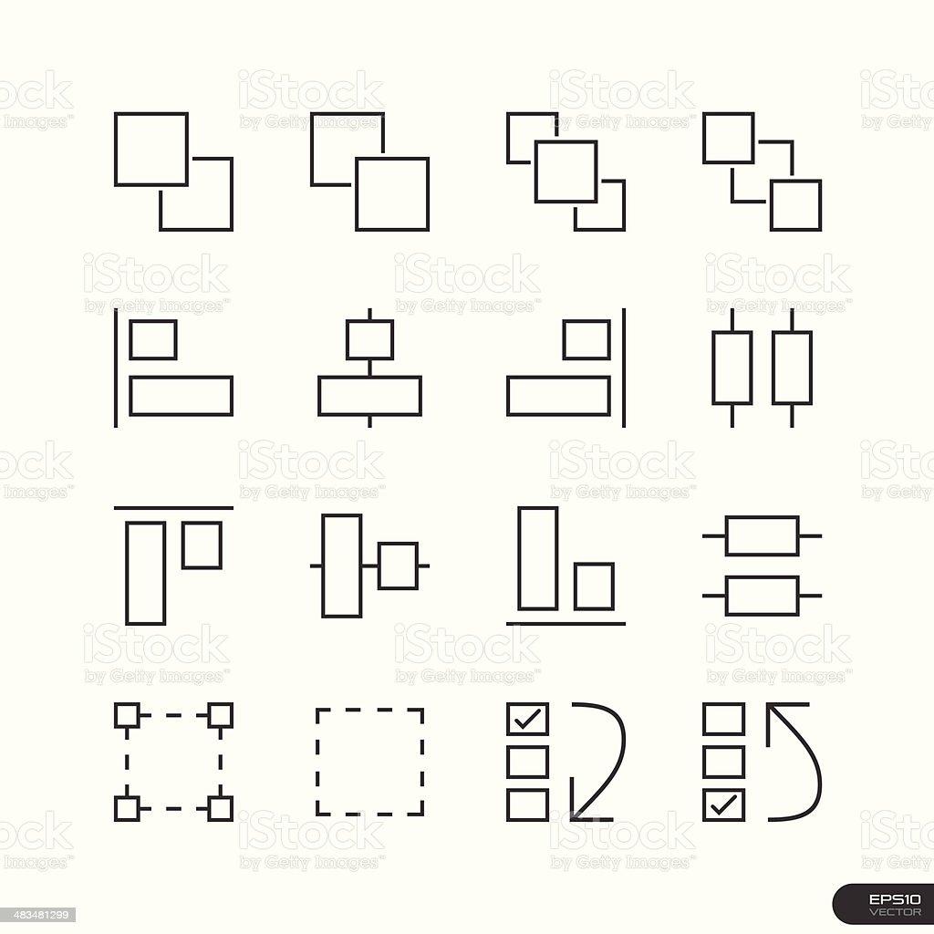 User Interface & Design Elements icon set