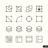 User Interface & Design Elements icon set