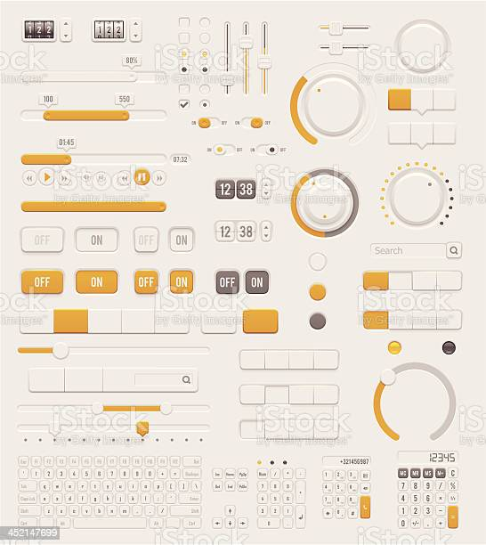 User Interface Dials Set Stock Illustration - Download Image Now