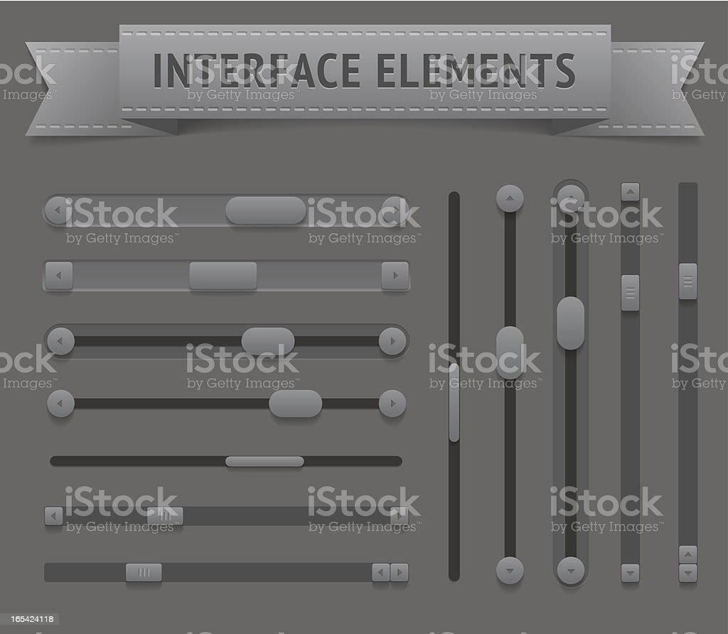 User interface elements royalty-free stock vector art