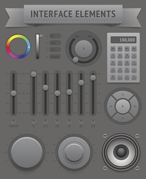 User interface elements vector art illustration