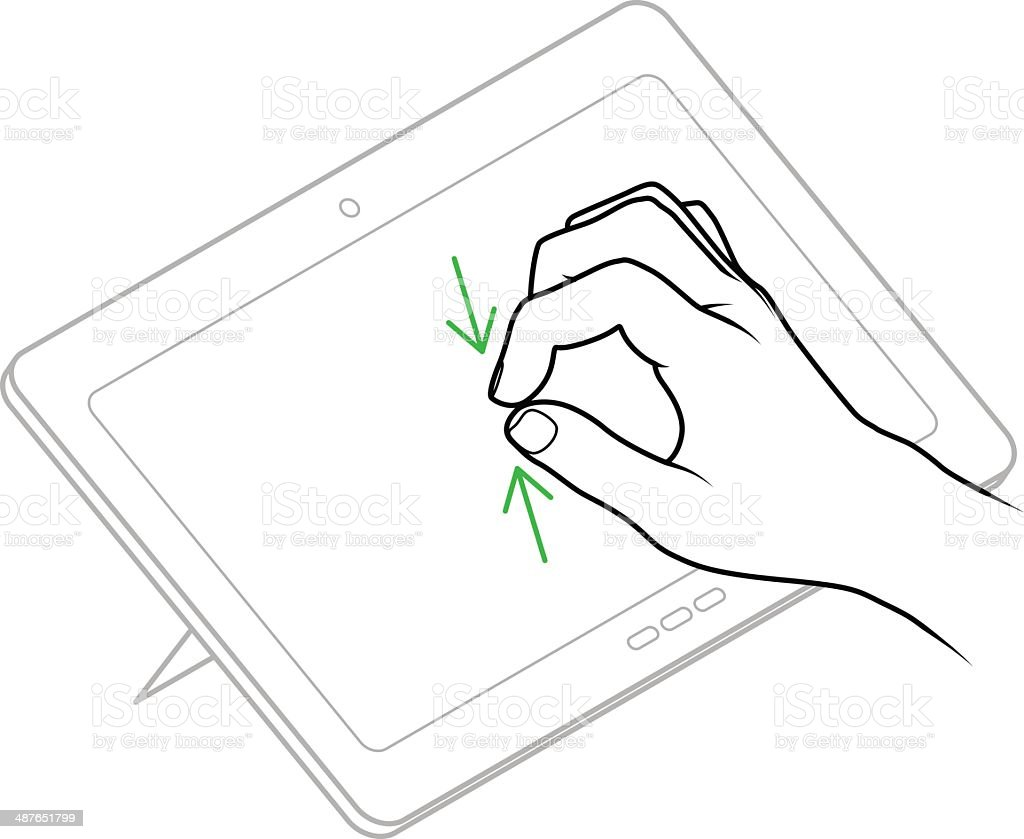 User Interface Gesture vector art illustration