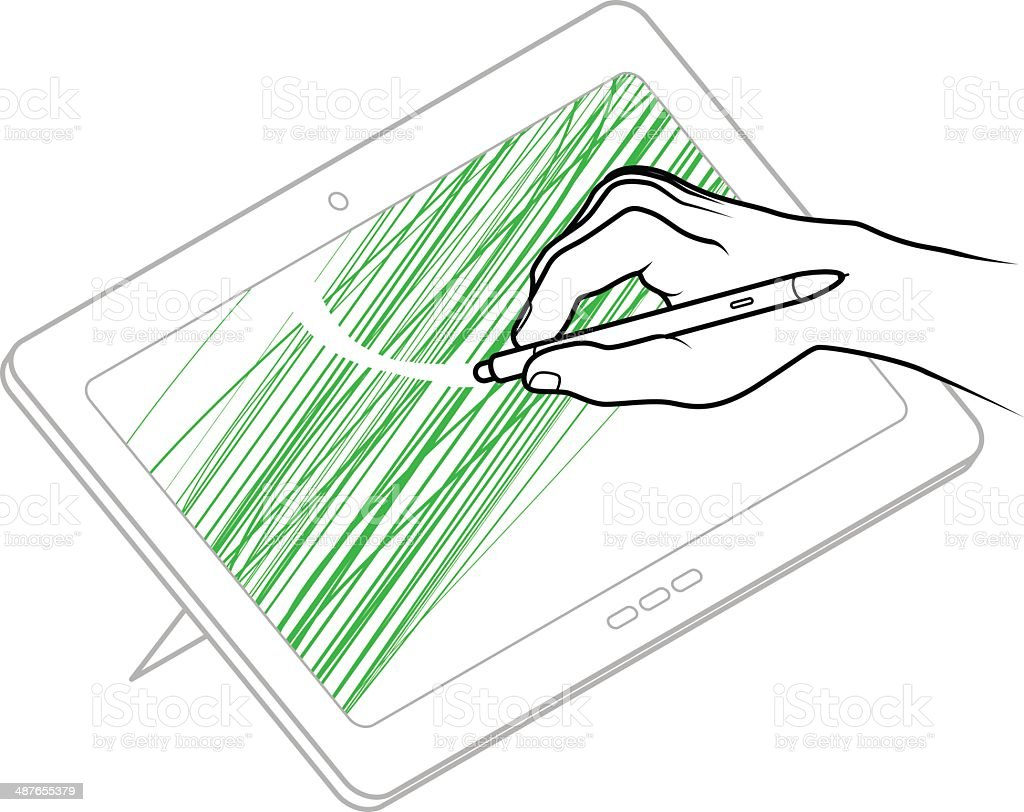 User Interface Gesture royalty-free stock vector art