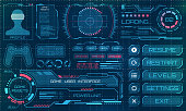 HUD User Interface, GUI, Futuristic Panel with Infographic Elements - Illustration Vector