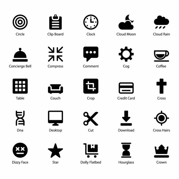 benutzeroberfläche icons - funktionssofa stock-grafiken, -clipart, -cartoons und -symbole