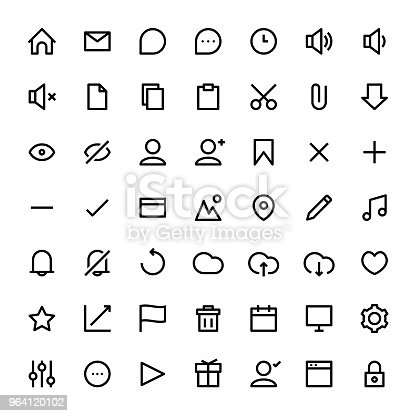 Vector illustration of a collection of user interface icons