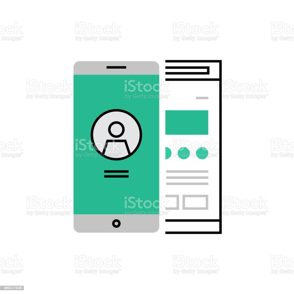Icône d'utilisateur Interface Monoflat - clipart vectoriel de Abstrait libre de droits