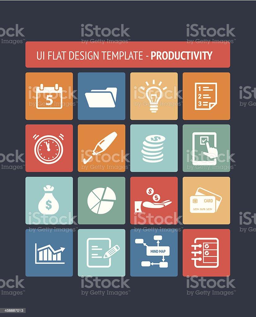 User Interface Template - Productivity vector art illustration