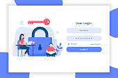 istock User login illustration landing page 1283543880