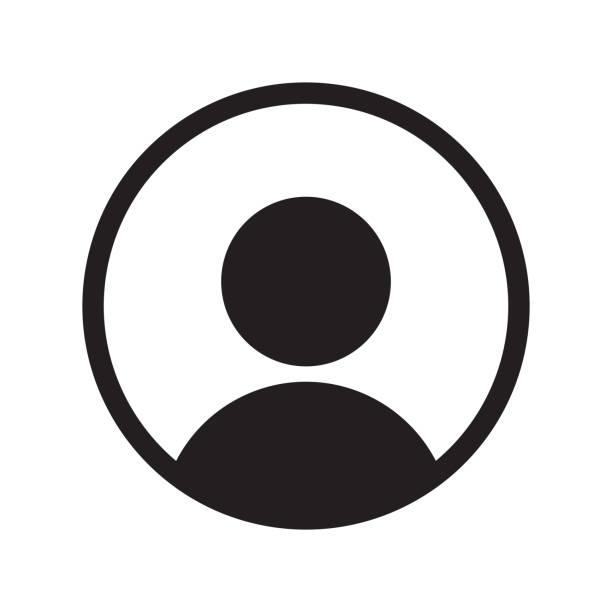 ilustrações, clipart, desenhos animados e ícones de ícone de vetor de membro de usuário para interface do usuário ui ou perfil app avatar face no círculo design - {{asset.href}}