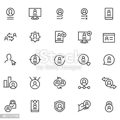 User profile icon set