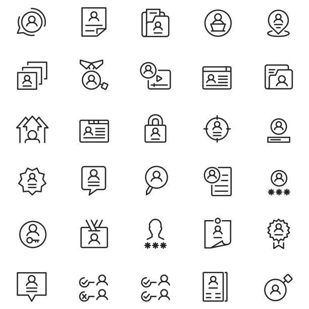 사용자 프로필 아이콘 - 신분 stock illustrations