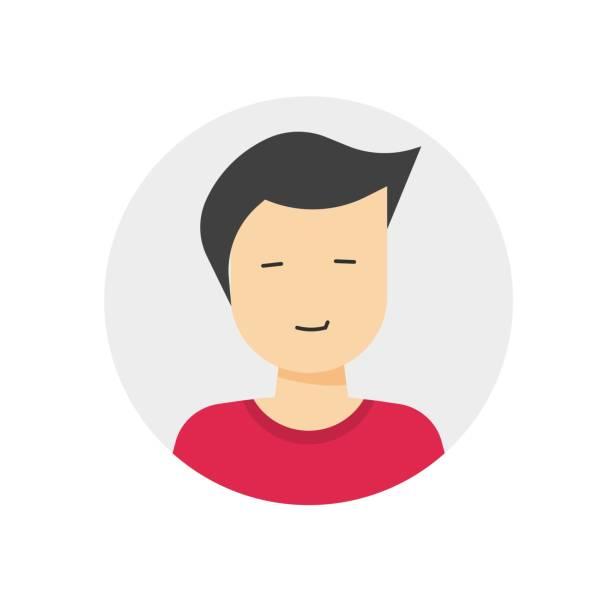 ilustraciones, imágenes clip art, dibujos animados e iconos de stock de perfil de usuario o mi icono de inicio de sesión avatar de cuenta con hombre hombre cara masculina sonrisa símbolo vectorial plano, signo miembro de persona humana aislado en fondo blanco - gerente de cuentas