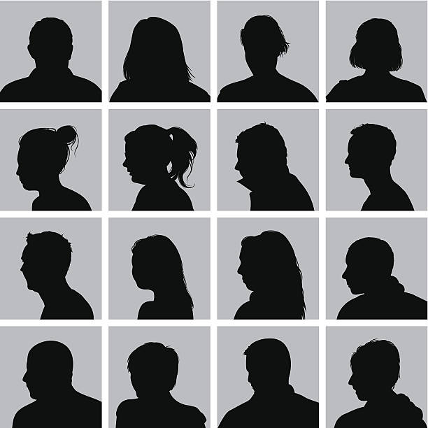 user profile silhouettes - head and shoulders stock illustrations, clip art, cartoons, & icons
