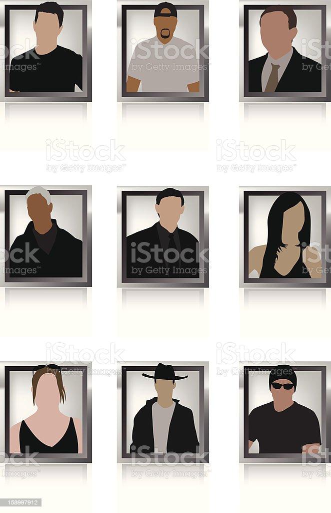 User Profiles royalty-free stock vector art