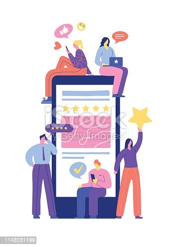 istock User rating and feedback 1143231199
