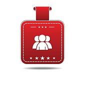 User  Red Vector Icon Design
