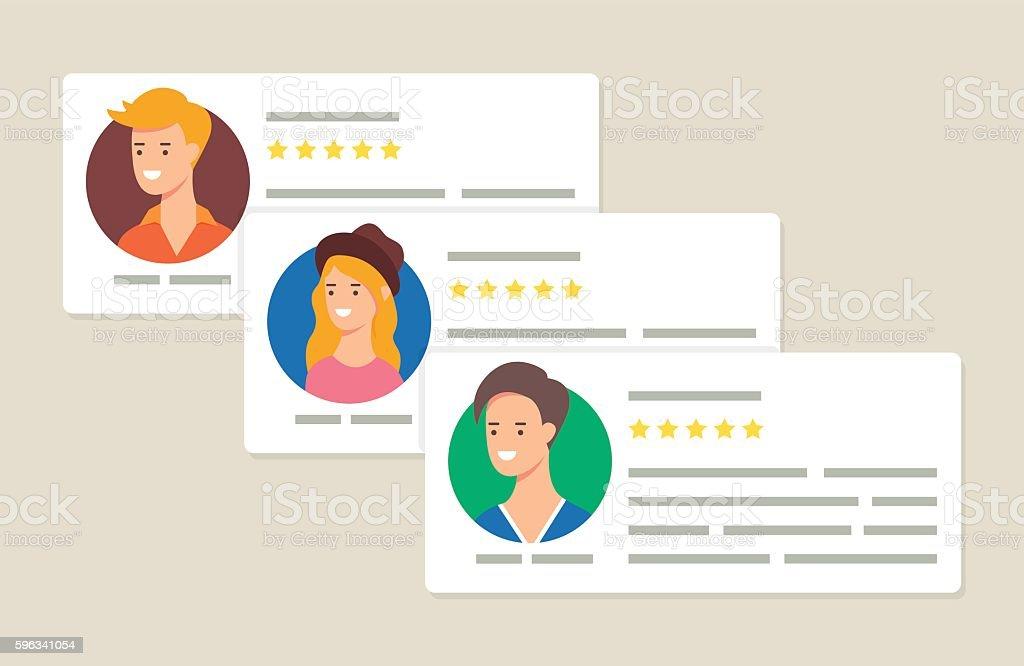 User reviews and feedback concept vector illustration Lizenzfreies user reviews and feedback concept vector illustration stock vektor art und mehr bilder von bewertung