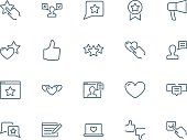 User reviews icons set