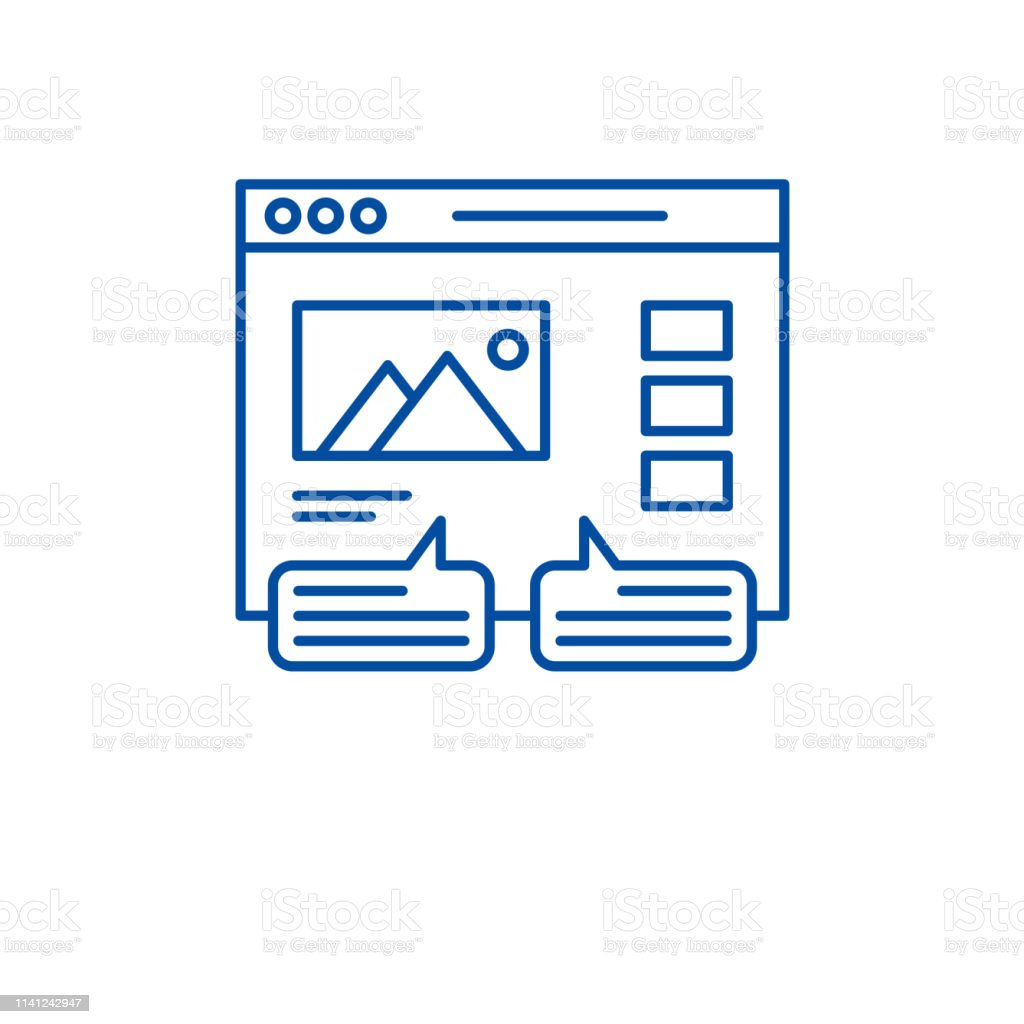 User Reviews Line Icon Concept User Reviews Flat Vector Symbol Sign