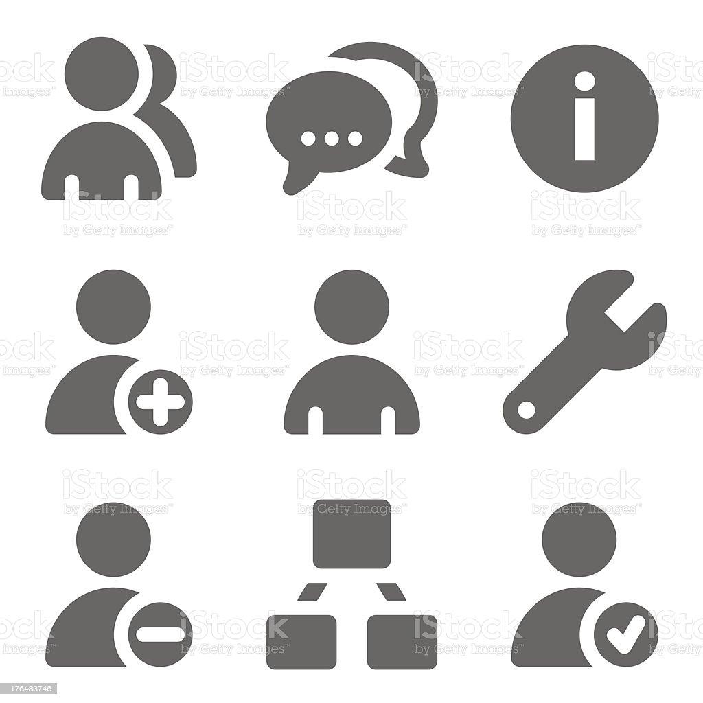 Ilustración de Los Usuarios Web Iconos Gris Sólido Serie y más banco ...