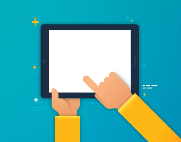 using a mobile device - e-learning not icons stock illustrations