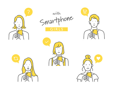 using a smartphone for something