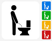 Using the Toilet Icon Flat Graphic Design