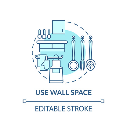 Using wall space concept icon