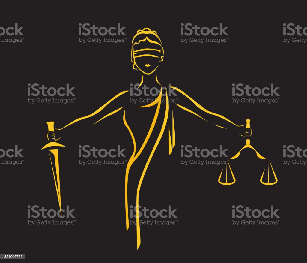 l déesse Themis - Illustration vectorielle