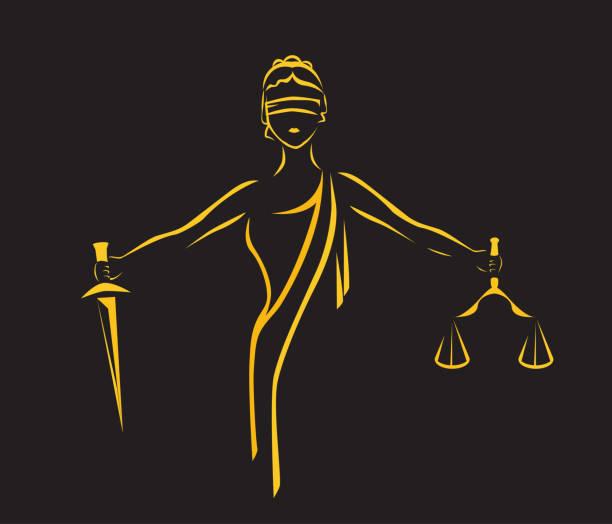 ustice goddess themis - lawyer stock illustrations, clip art, cartoons, & icons