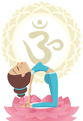 ustrasana asana yoga practice meditation on lotus om