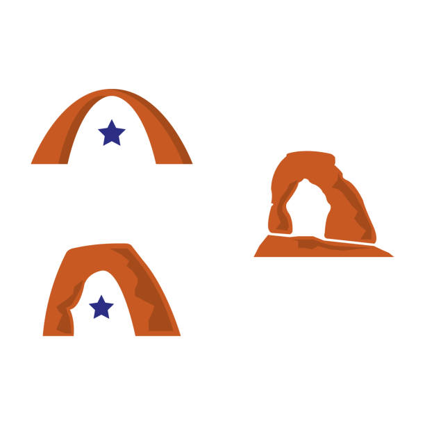 utah arch a set of arch icons delicate arch stock illustrations