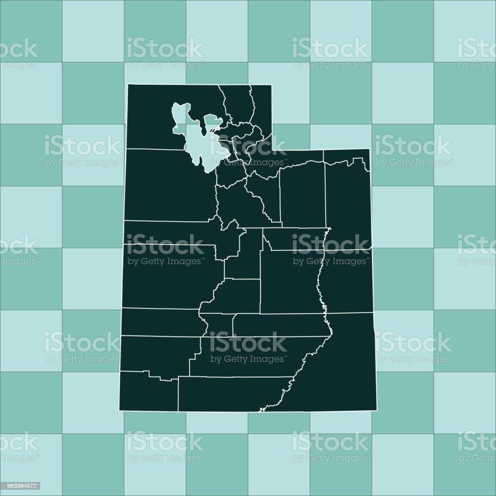 Utah map - Grafika wektorowa royalty-free (Ameryka Północna)