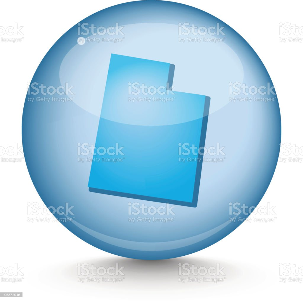 Utah-Sphere State serie utahsphere state serie - immagini vettoriali stock e altre immagini di blu royalty-free