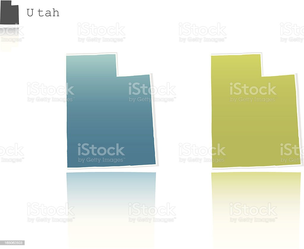 Utah State Graphic royalty-free stock vector art