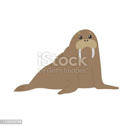 Vector character. Isolated animal illustration