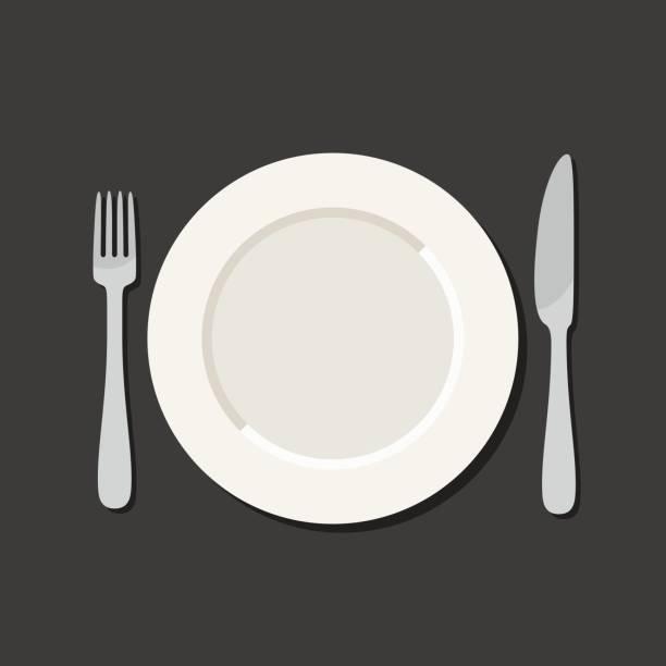 Ustensile plat style - Illustration vectorielle