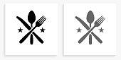 istock Utensils Black and White Square Icon 1144252549