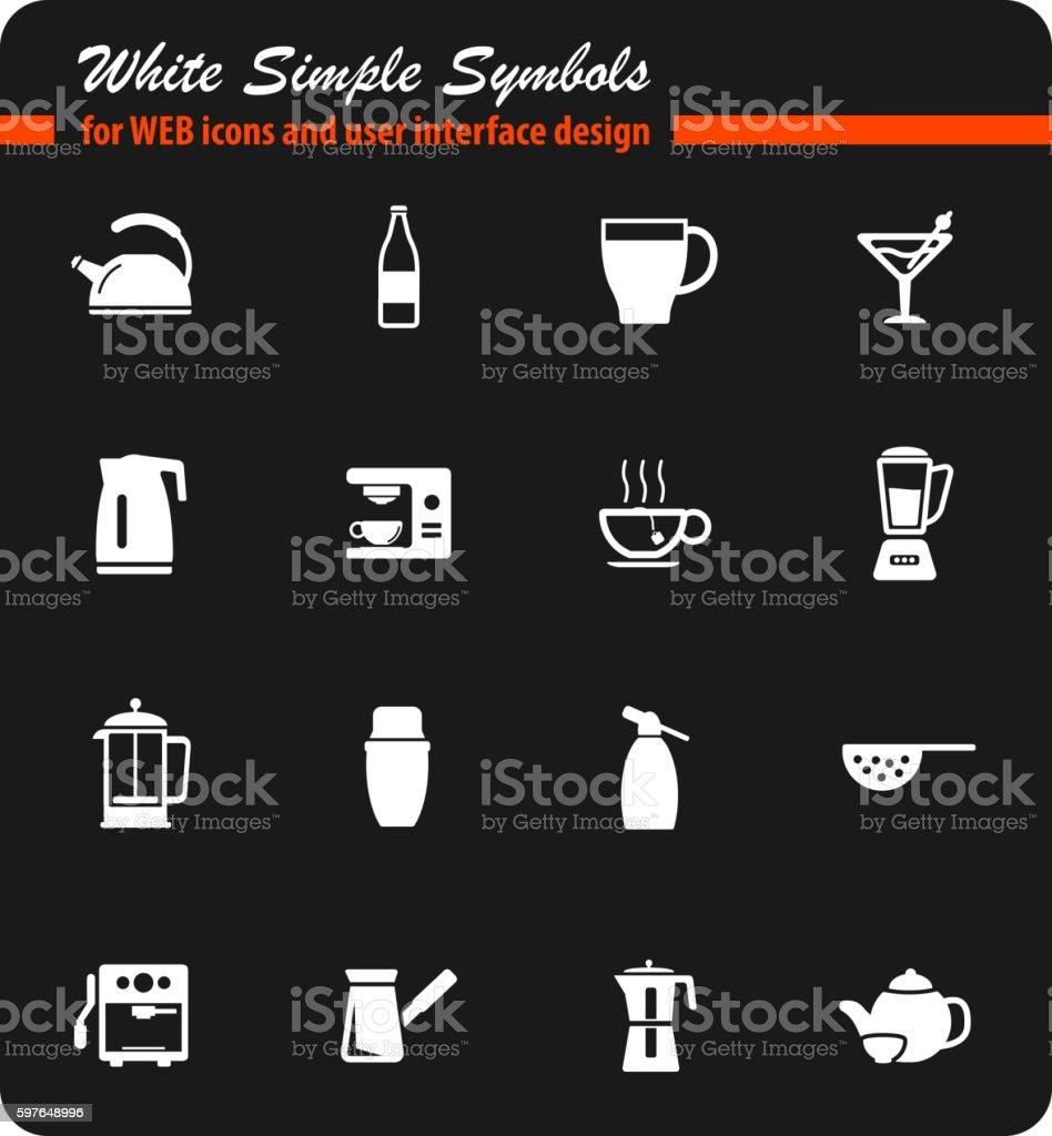 Küchenutensilien Für Die Vorbereitung Von Getränke Stock Vektor Art ...