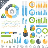 Utilities & Energy Infographic Elements and Icons