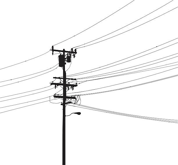 Royalty Free Telephone Pole Clip Art, Vector Images