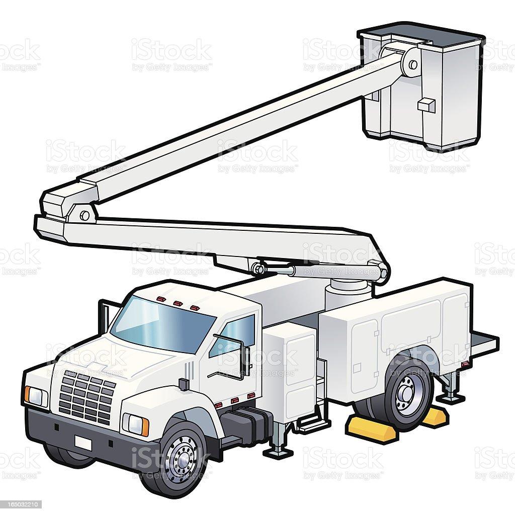 Utility truck royalty-free stock vector art