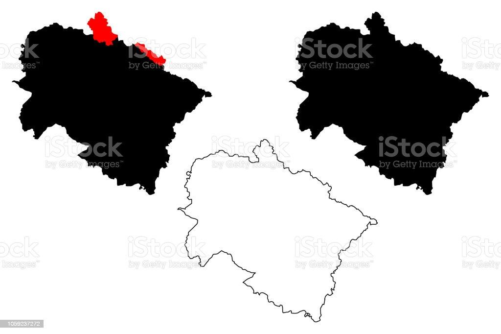 Uttarakhand Map Vector Stock Illustration - Download Image ...