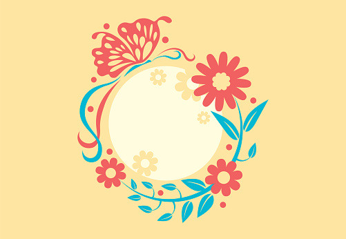 utterfly and flowers graphics