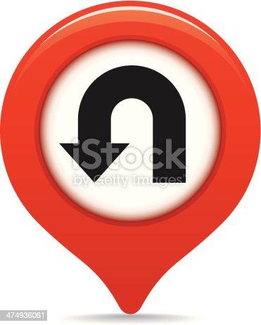 istock U-turn map pointer 474936061